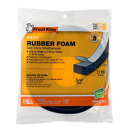 Frost King Rubber Foam Self-Stick Weatherseal, R734H