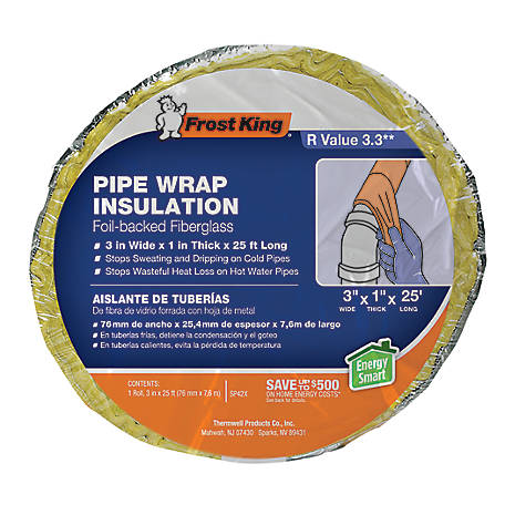 Frost King Foil-Backed Fiberglass Pipe Wrap, SP42X/16