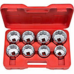 TEKTON 3/4 in. dr. Jumbo Socket Set, 2-1/16 - 2-1/2 in., Carbon Steel
