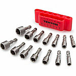 TEKTON 14-Piece Quick-Change Power Nut Driver Bit Set, SAE/Metric