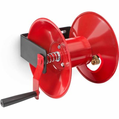 TEKTON Hand Crank Air Hose Reel; 50 ft. Capacity; Red
