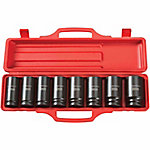 TEKTON 3/4 in. Drive Deep Impact Socket Set, 27-38mm, CR-V