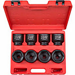 TEKTON 3/4 in. Drive. Shallow Impact Socket Set, 2-1/16-2-1/2 in., CR-MO
