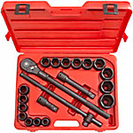 TEKTON 21-Piece 3/4 in. Drive Impact Socket Set, 3/4-2 in.