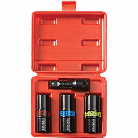 TEKTON 4-Piece 1/2 in. Drive Impact Flip Socket Set