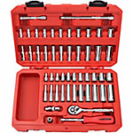 TEKTON 51-Piece 1/4 in. Drive Socket Set, SAE/Metric