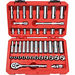 TEKTON 45-Piece 3/8 in. Drive Socket Set, SAE/Metric