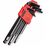 TEKTON 9-Piece Long Arm Ball Hex Key Wrench Set, Metric