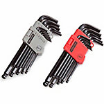 TEKTON 26-Piece Long Arm Ball Hex Key Wrench Set, SAE/Metric