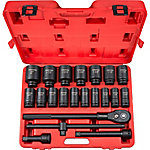 TEKTON 3/4 in. Drive Deep 6-Point Impact Socket 22-Piece Set, 7/8-2 in.