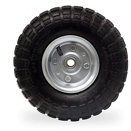 Buffalo Tools 10 in. Pneumatic Tire Set with Steel Rim, 1 Pair, 400093