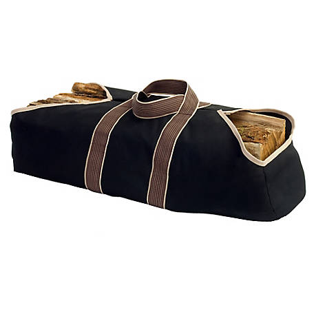Pleasant Hearth Canvas Log Tote