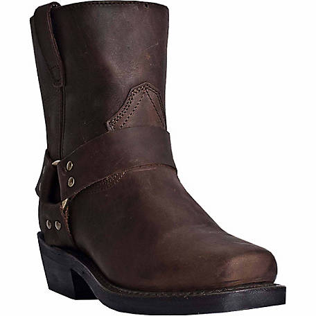 Dingo Men's Rev Up Short Gaucho Leather Boot with Side Zipper