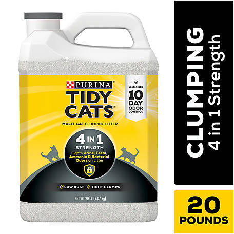 Tidy Cats 4-in-1 Strength Clumping Litter, 20 lb. Jug