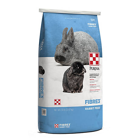 Purina Fibre3 Rabbit Feed, 50 lb. bag, 55802