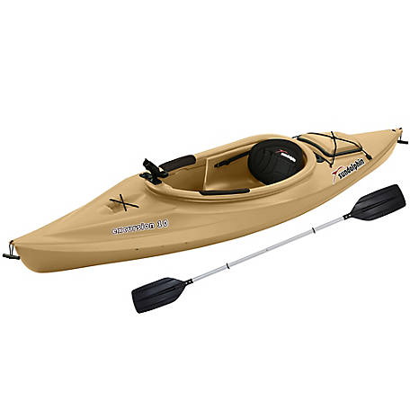 Sun Dolphin Excursion 10 ft. Fishing Kayak, Sand, 51390-P