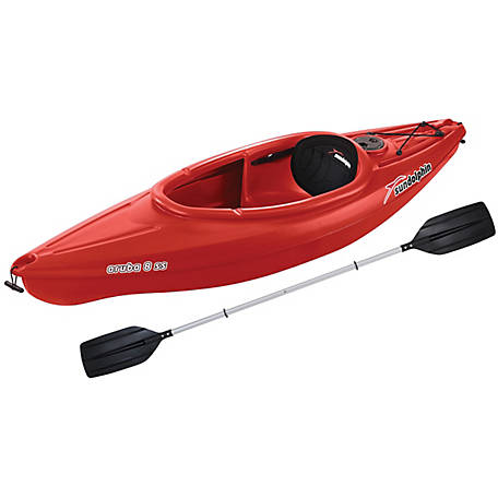 Sun Dolphin Aruba 8 ft. SS Kayak, Red, 51615-P