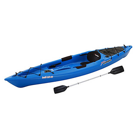 Sun Dolphin Bali 12 ft. SS Kayak with Paddle, Blue, 51725-P