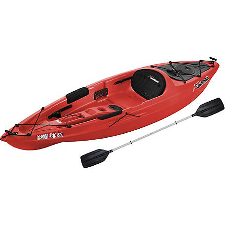 Sun Dolphin Bali 10 ft. SS Kayak with Paddle, Red, 51915-P