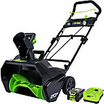 Greenworks PRO 80V 20 in. Single Stage Snow Blower with 2Ah Battery and Charger, 2600402