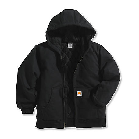 f7d2d215fe1 Carhartt Boys' 12 oz. Duck Outerwear Jacket with Hood