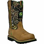 John Deere Men's 11 in. Leather Work Boot, Steel Toe