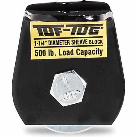 Tuf-Tug 1-1/4 in. Wire Rope Block, Flat Mount
