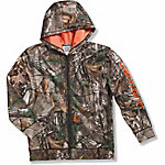 Carhartt Boy's Camo Logo Fleece Zip Sweatshirt
