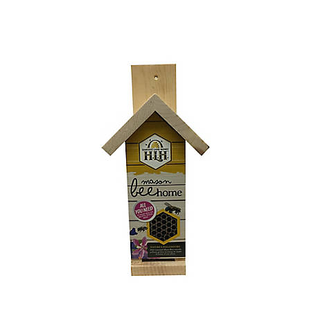 Harvest Lane Honey Mason Bee Home - Natural Wood Color, MASONTLR-101
