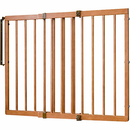 Cardinal Wood Gate for Pets, Colonial Maple, 29-1/2 in. to 49.25 in. W x 29 in. H