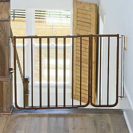 Cardinal 10-1/2 in. Extension for Stairway Special Outdoor Safety Gate, Brown, 10-1/2 in. W x 29-1/2 in. H