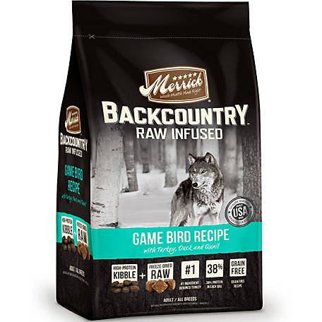 Merrick Grain Free Backcountry Game Bird Recipe, 22 lb..