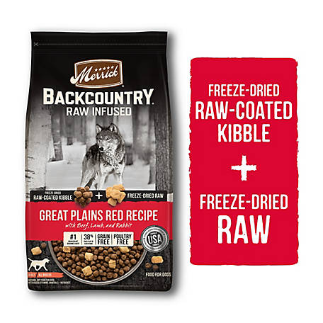 Merrick Grain Free Backcountry Great Plains Red Meat Recipe, 4 lb.