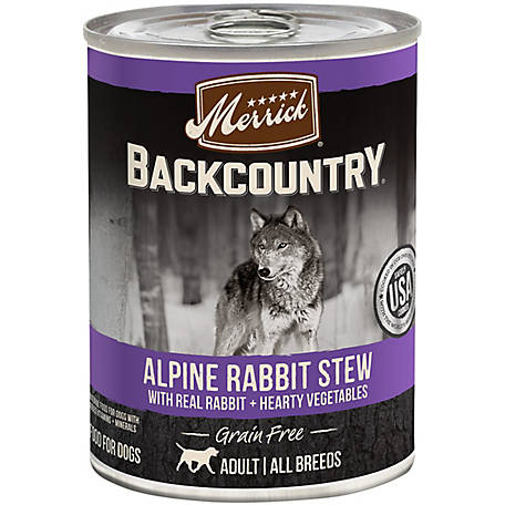 Merrick Grain Free Backcountry Alpine Rabbit Stew, 12.7 oz.