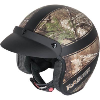 Raider Ambush Open Face Helmet; Realtree Xtra