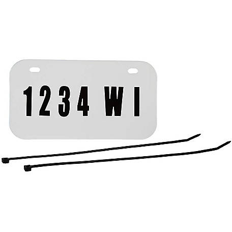 Raider Wisconsin ATV/UTV License Plate Kit