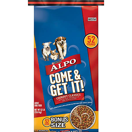 Purina ALPO Dry Dog Food, Come & Get It! Cookout Classics, 52 lb. Bag