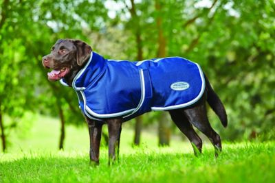 Weatherbeeta Parka 1200D Deluxe Dog Coat; Navy/Grey/White