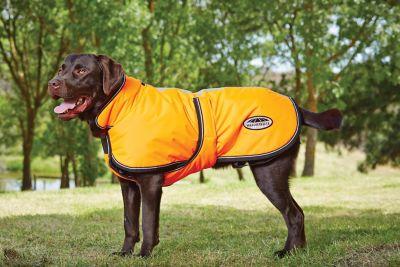 Weatherbeeta Reflective Parka 300d Deluxe Dog Coat; Orange