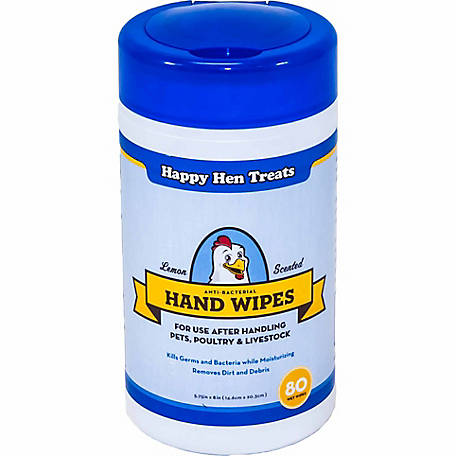 Happy Hen Treats Anti Bacterial Hand Wipes, 80 Count