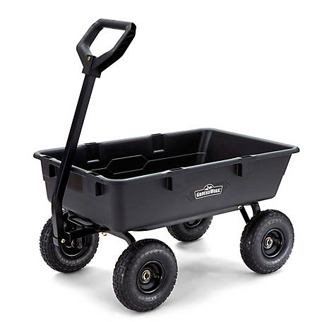 GroundWork Pro Series Poly Dump Cart, 800 lb. Capacity