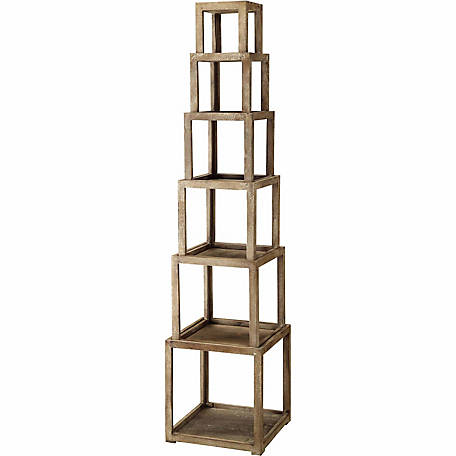 Crestview Cheyenne Stackable Etagere, Pack of 6