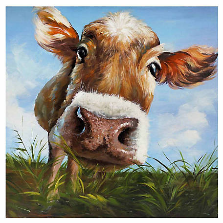 Hello Cow Canvas, 39-1/2 in. x 39-1/2 in. x 1-1/2 in.