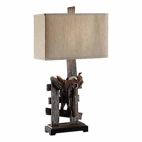 Saddle Table Lamp, 31-1/2 in. H.