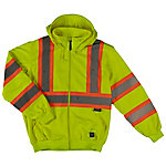 Work King Men's Safety Hi Vis Hoodie Zip Up Sweatshirt