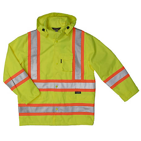Work King Men's Safety Rain Jacket S372