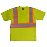 Work King Safety Men's T-Shirt with Pocket, Big Fit