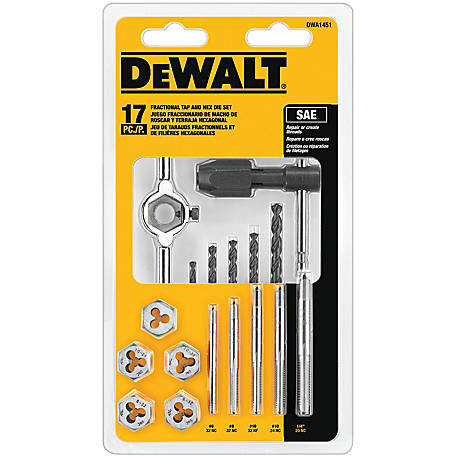 DeWALT 17-Piece Fractional Tap and Die Set