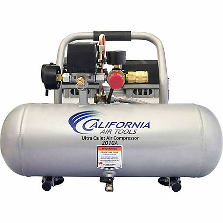 California Air Tools 2010A Ultra Quiet & Oil-Free 1.0 HP, 2.0 gal. Aluminum Tank Air Compressor