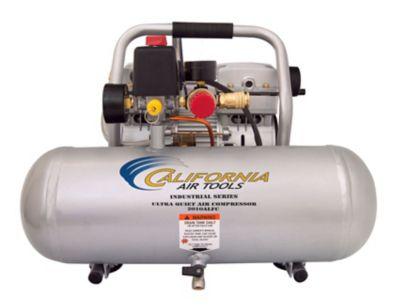 California Air Tools 2010ALFC Ultra Quiet & Oil-Free 1.0 HP; 2.0 gal. Aluminum Tank Industrial Air Compressor